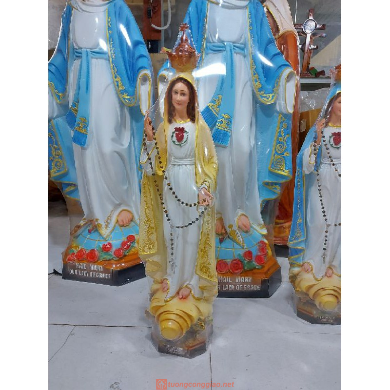 Tượng Đức Mẹ Fatima Cao 50cm Triều Thiên 07
