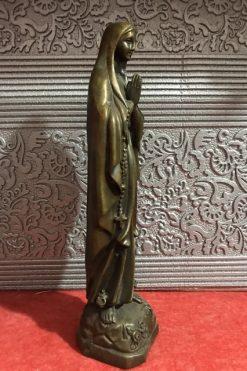 Tượng Đức Mẹ Lộ Đức Bằng đồng 18cm 03