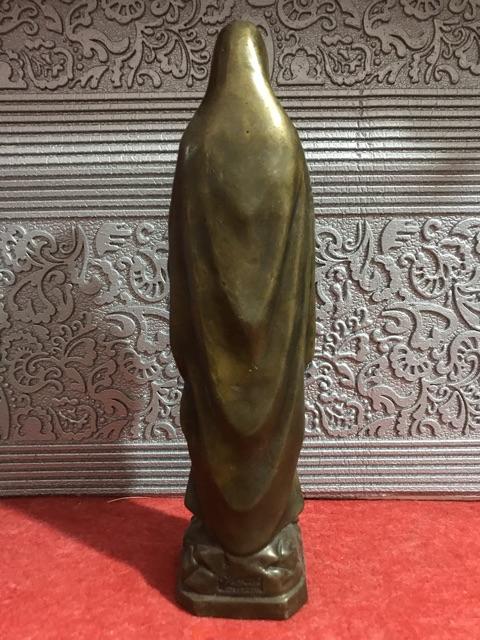 Tượng Đức Mẹ Lộ Đức Bằng đồng 18cm 04