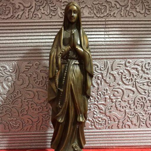 Tượng Đức Mẹ Lộ Đức Bằng đồng 18cm