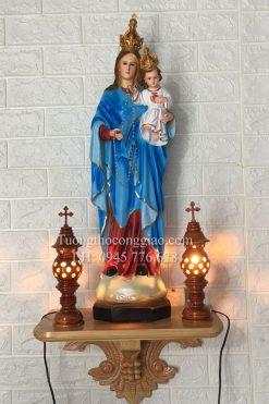 Tượng Đức Mẹ Mân Côi 70cm (1)