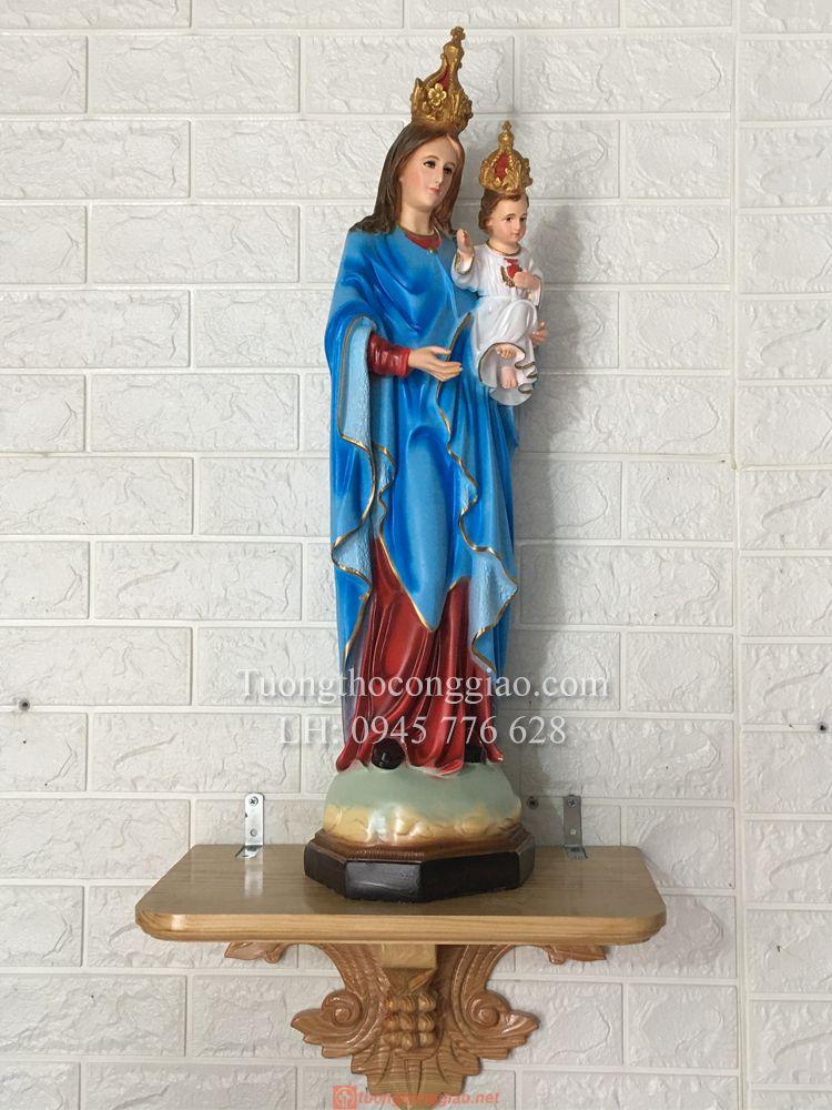 Tượng Đức Mẹ Mân Côi 70cm (2)