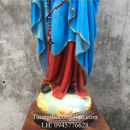 Tượng Đức Mẹ Mân Côi Cao 90cm (1)