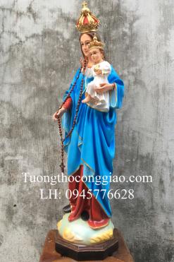Tượng Đức Mẹ Mân Côi Cao 90cm (2)