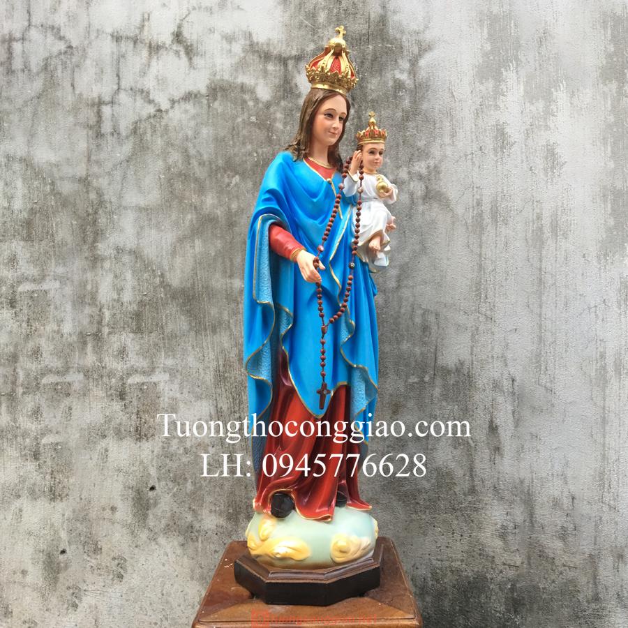 Tượng Đức Mẹ Mân Côi Cao 90cm (3)