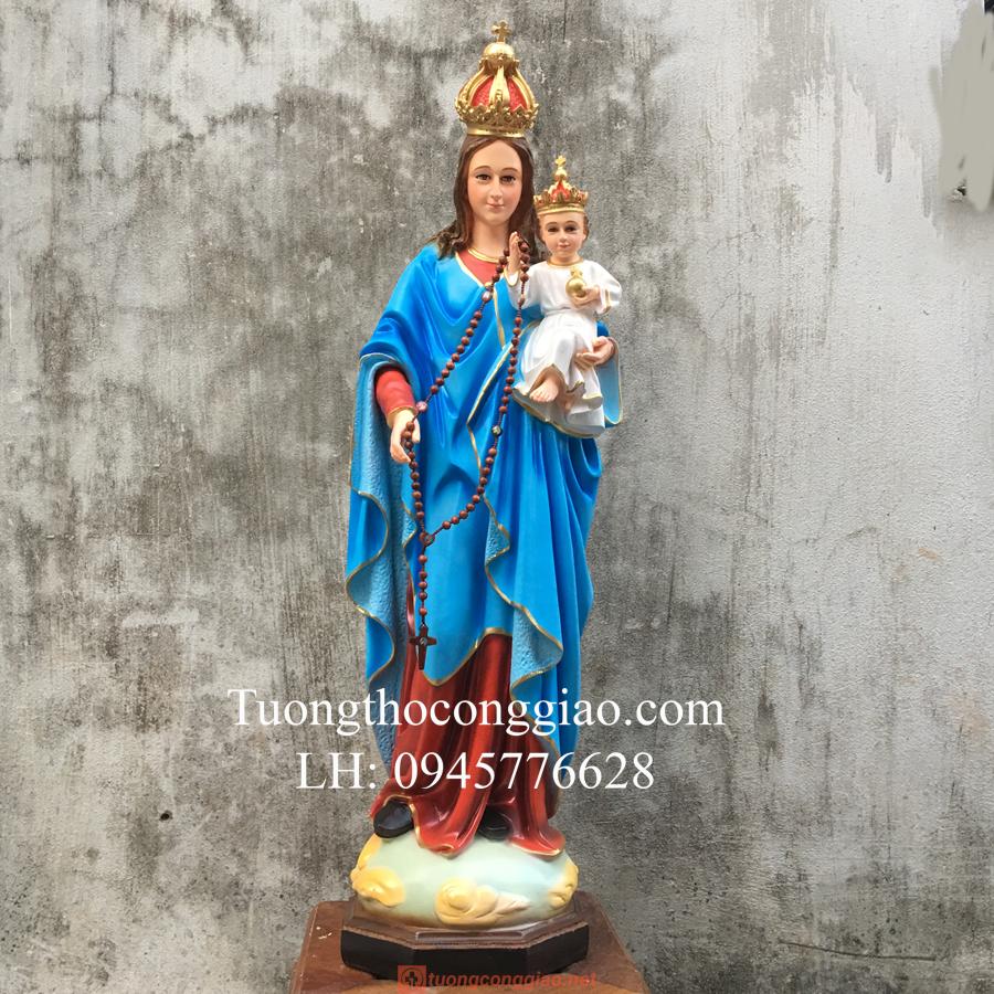 Tượng Đức Mẹ Mân Côi Cao 90cm (4)