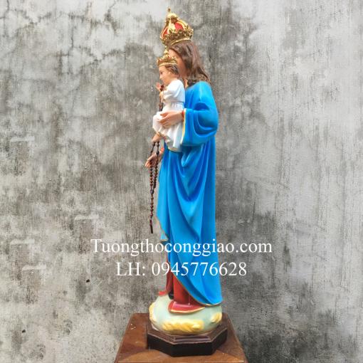 Tượng Đức Mẹ Mân Côi Cao 90cm (8)