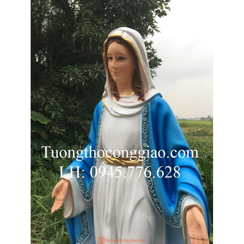 Tượng Đức Mẹ Ban ơn 120cm 09