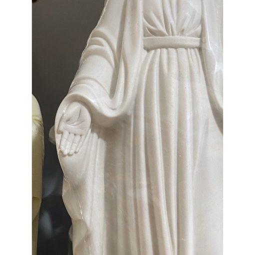 Tượng Đức Mẹ Ban ơn Màu Trắng 40cm 03