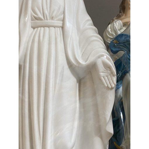 Tượng Đức Mẹ Ban ơn Màu Trắng 40cm 04