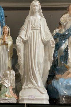 Tượng Đức Mẹ Ban ơn Màu Trắng 40cm