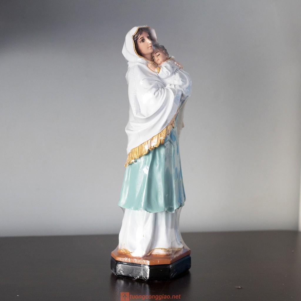 Tượng Đức Mẹ Bông Con 26cm Ánh Mắt Rất Thật 02