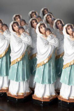 Tượng Đức Mẹ Bông Con 26cm Ánh Mắt Rất Thật