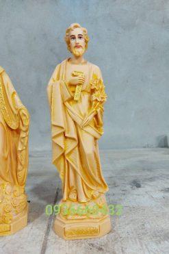Tượng Giuse Thợ Cao 30cm Sơn Màu Gỗ 03