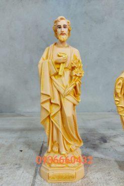 Tượng Giuse Thợ Cao 30cm Sơn Màu Gỗ