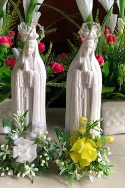 Tượng Mẹ Fatima Màu Trắng Cao 15cm