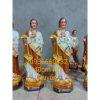 Tượng Thánh Giuse Hoa Huệ 40cm Màu Nâu