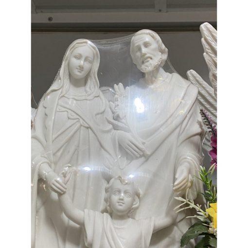 Tượng Gia đình Thánh Gia Cao 40cm Màu Trắng 02