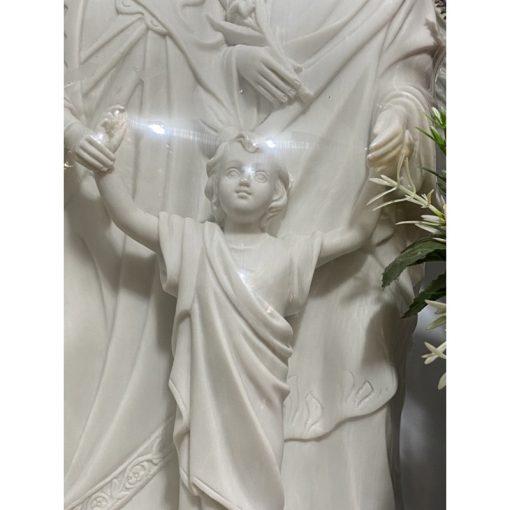 Tượng Gia đình Thánh Gia Cao 40cm Màu Trắng 03