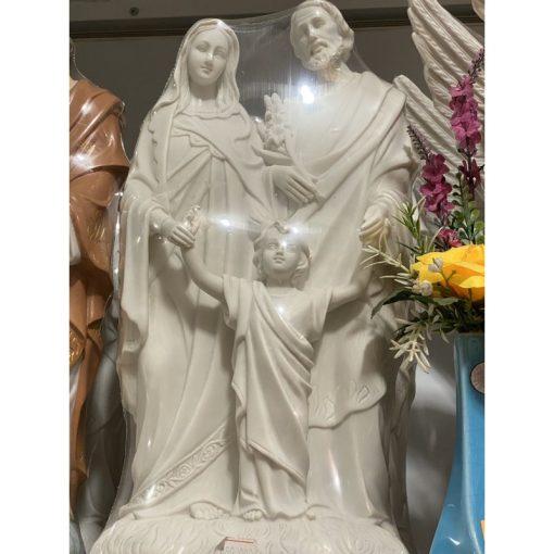 Tượng Gia đình Thánh Gia Cao 40cm Màu Trắng
