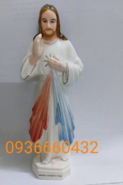 Tượng Lòng Chúa Thương Xót Cao 17cm Ceramic(sứ) 02