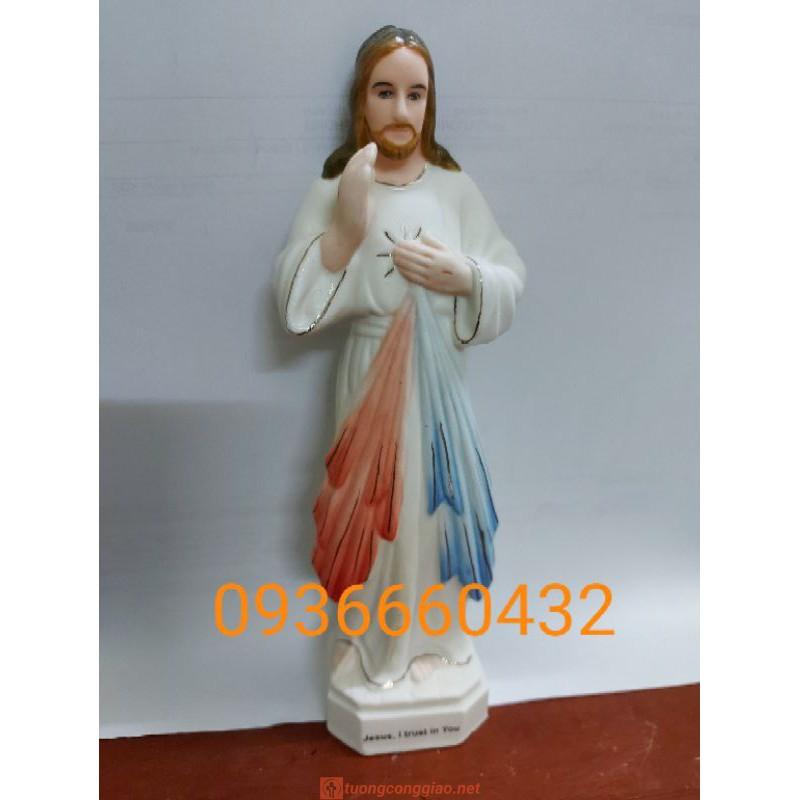 Tượng Lòng Chúa Thương Xót Cao 17cm Ceramic(sứ) 03