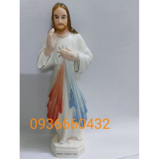 Tượng Lòng Chúa Thương Xót Cao 17cm Ceramic(sứ) 04