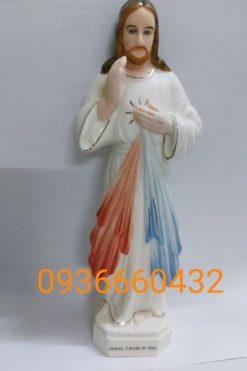 Tượng Lòng Chúa Thương Xót Cao 17cm Ceramic(sứ) 05