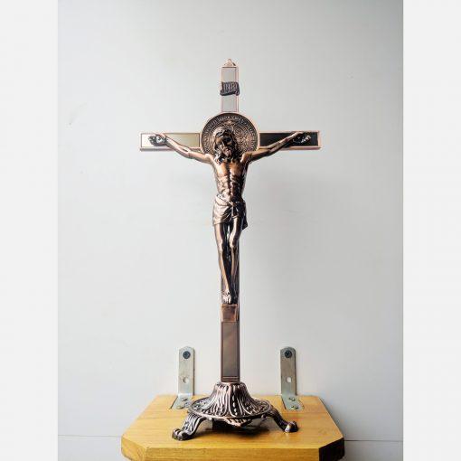 Tượng Thánh Giá Kim Loại Màu đồng (3)