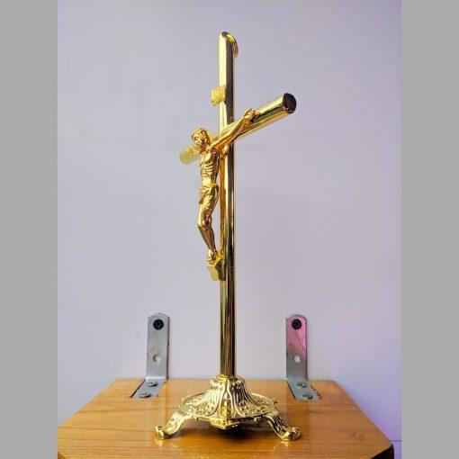 Tượng Thánh Giá Kim Loại Màu Vàng đồng (4)