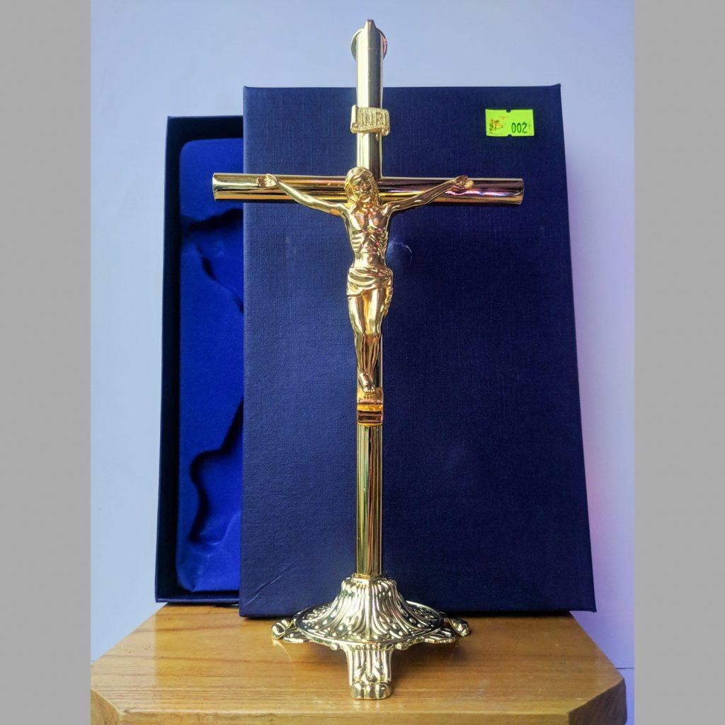 Tượng Thánh Giá Kim Loại Màu Vàng đồng (5)