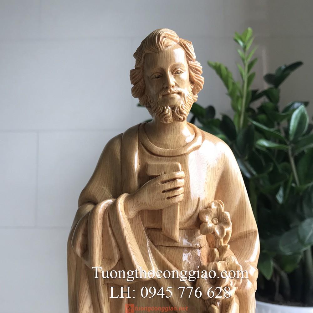 Tượng Thánh Giuse Bằng Gỗ 40cm 02