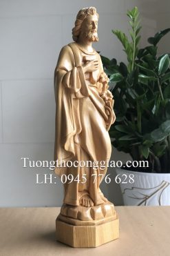 Tượng Thánh Giuse Bằng Gỗ 40cm 04