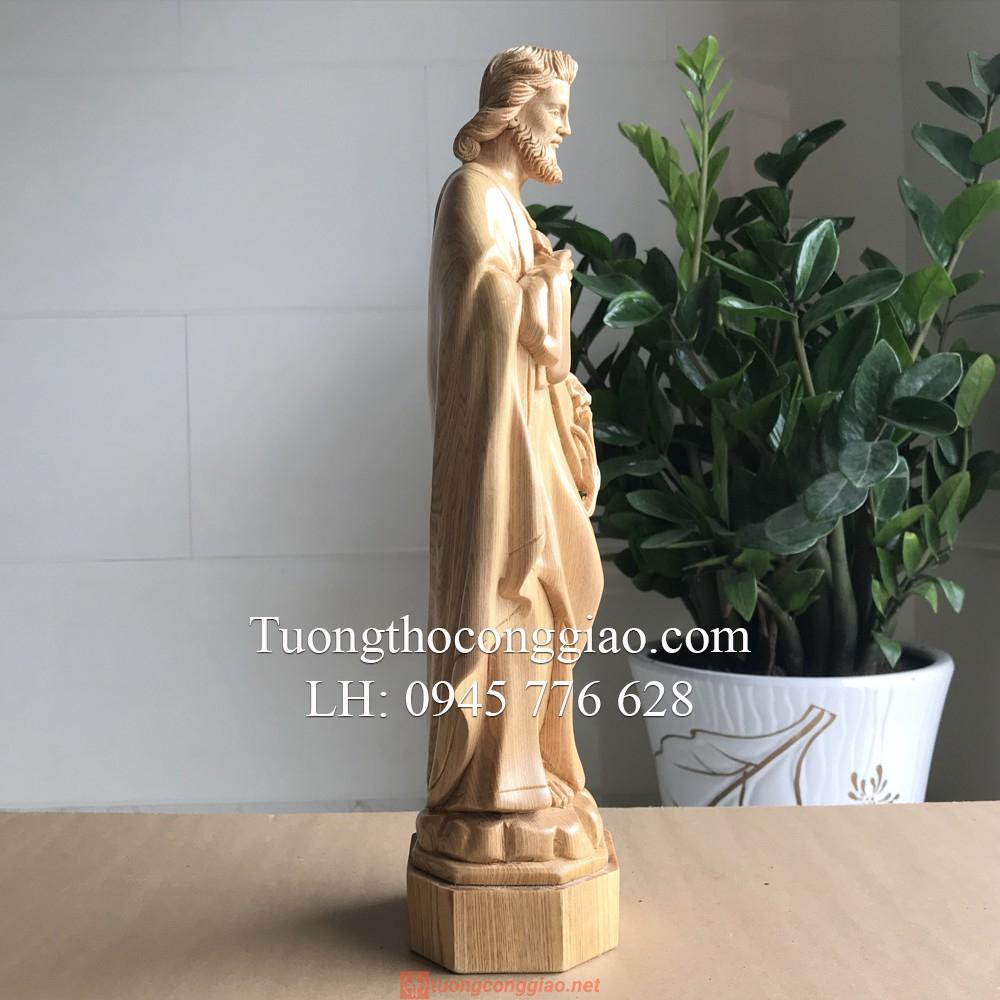 Tượng Thánh Giuse Bằng Gỗ 40cm 05