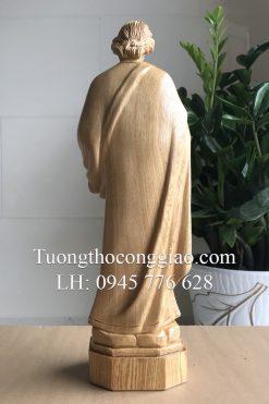 Tượng Thánh Giuse Bằng Gỗ 40cm 06