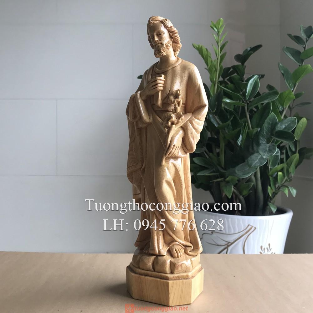 Tượng Thánh Giuse Bằng Gỗ 40cm 08