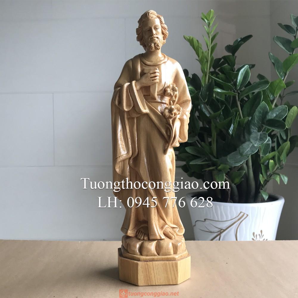 Tượng Thánh Giuse Bằng Gỗ 40cm