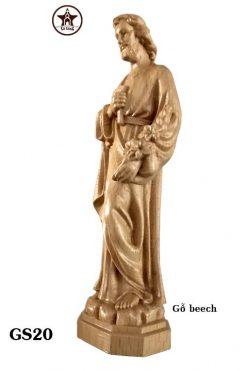 Tượng Thánh Giuse Gỗ Beech Cao 20cm 02