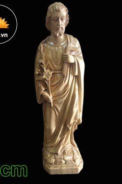 Tượng Thánh Giuse Gỗ Pơ Mu 30cm