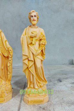 Tượng Thánh Giuse Thợ Cao 40cm Màu Gỗ 03