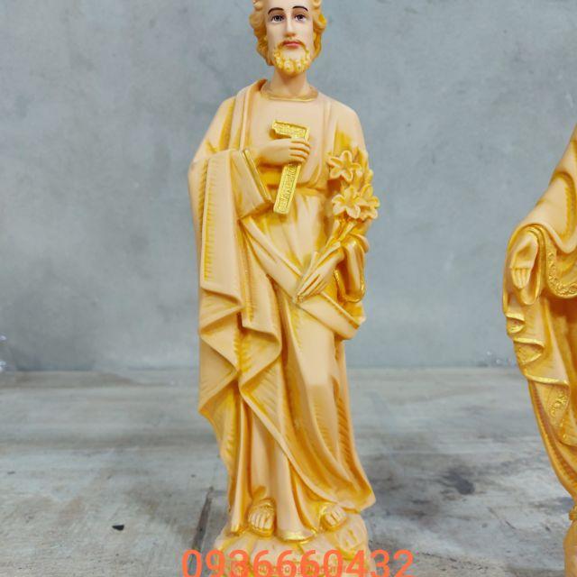 Tượng Thánh Giuse Thợ Cao 40cm Màu Gỗ