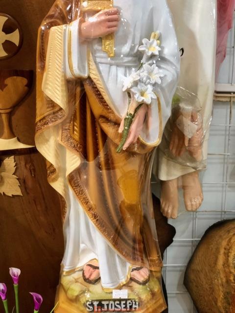 Tượng Thánh Giuse Thợ Cao 60cm Composite 04