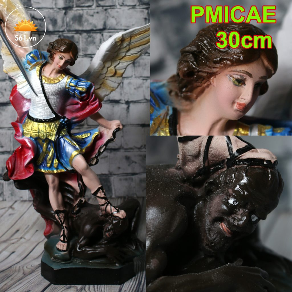 Tượng Thánh Micae đẹp Cao Cấp 30cm (2)