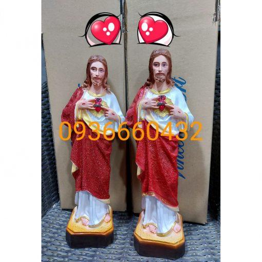 Tượng Thánh Tâm Chúa Cao 40cm 02