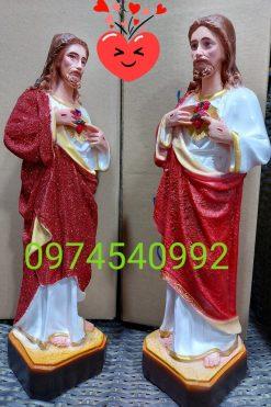 Tượng Thánh Tâm Chúa Cao 40cm 03