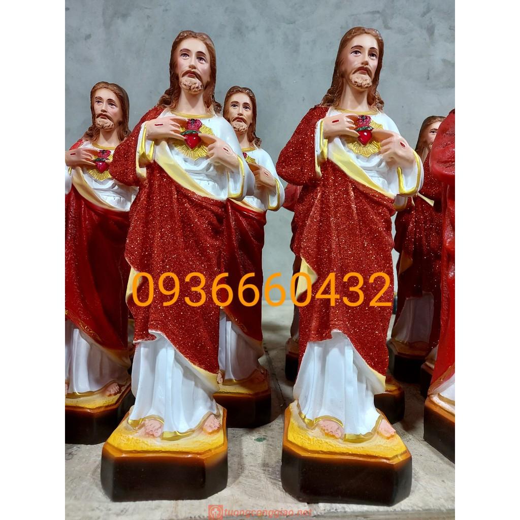 Tượng Thánh Tâm Chúa Cao 40cm