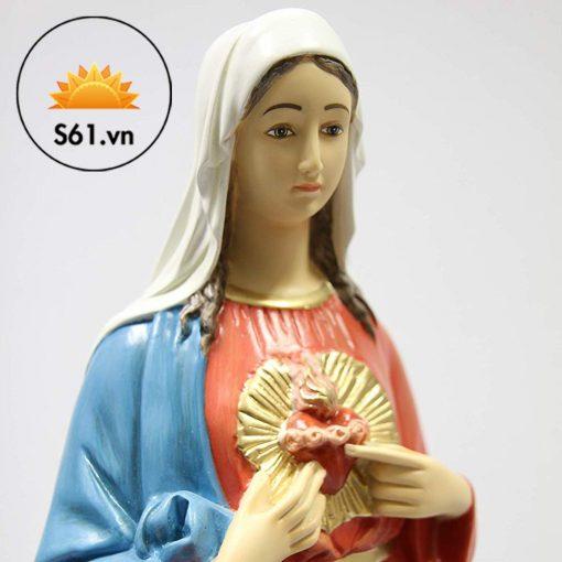 Tượng Thánh Tâm Đức Mẹ Mẫu Ý 65cm 03
