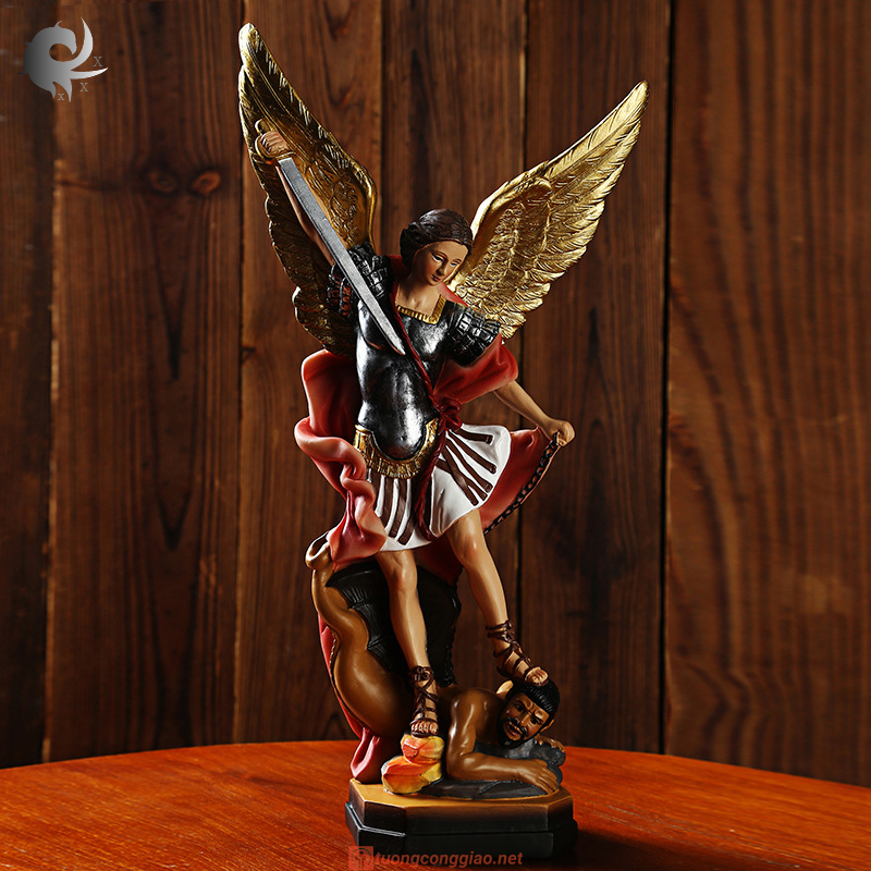 Tượng Thiên Thần Micae Cao 22x12x6cm (2)