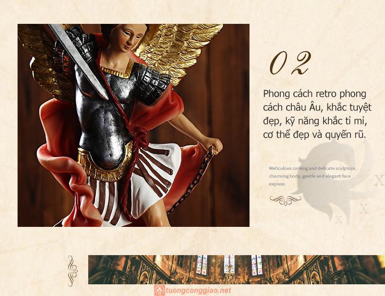 Tượng Thiên Thần Micae Cao 22x12x6cm (3)