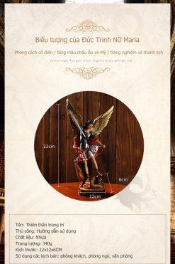 Tượng Thiên Thần Micae Cao 22x12x6cm (5)